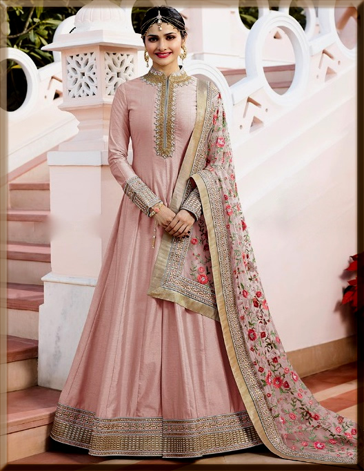 light pink Indian Anarkali Frocks