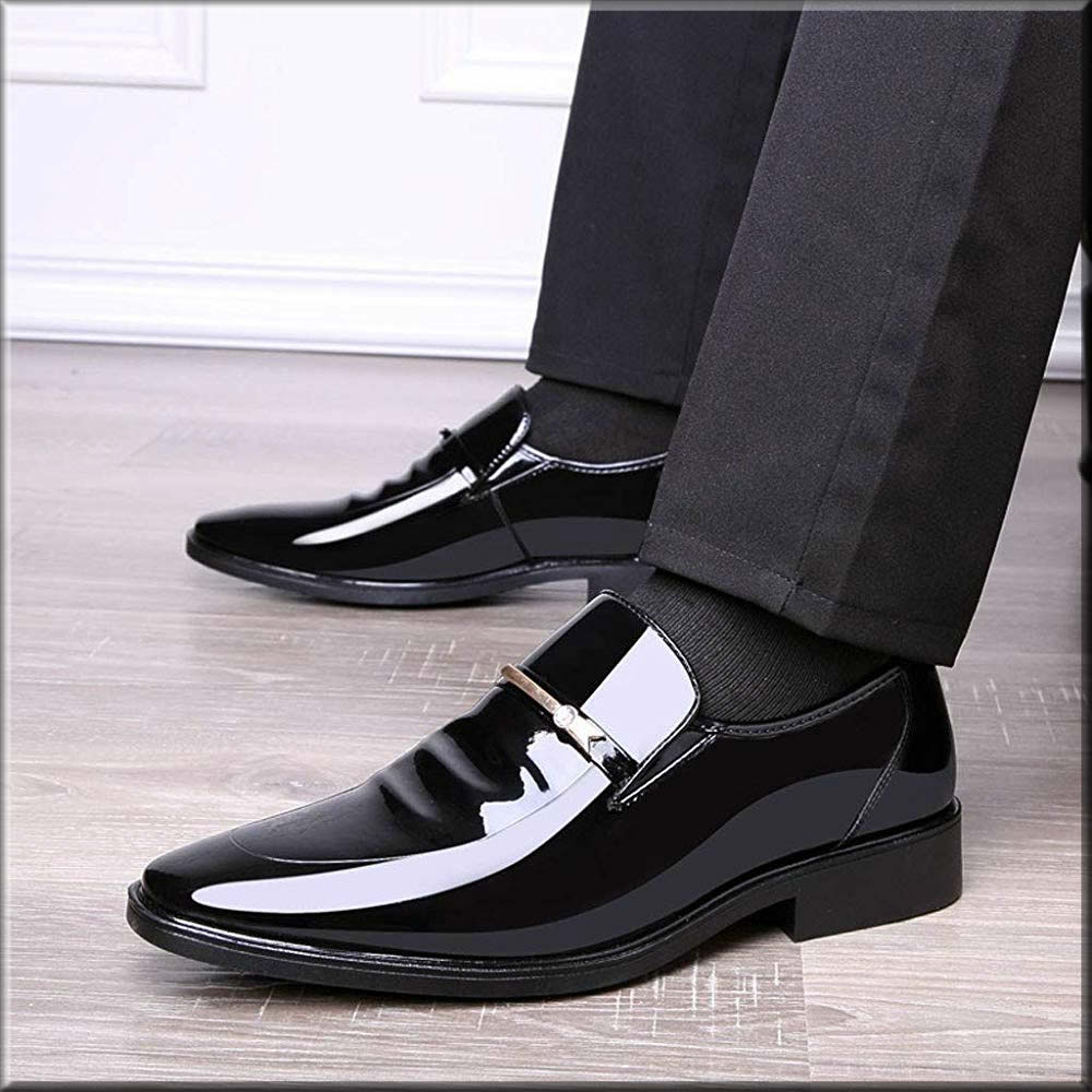 patent leather shoe for men