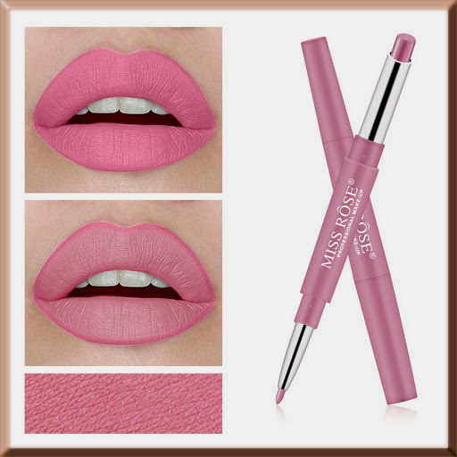 pink long lasting lip liner+ lipsticks