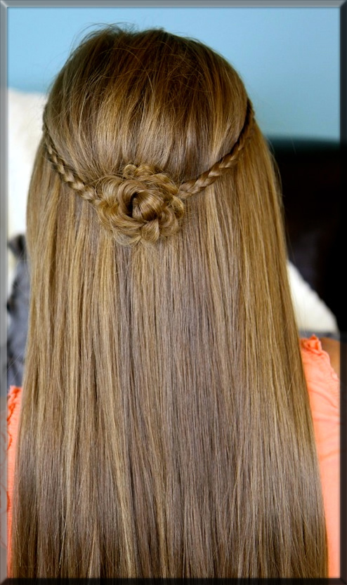 rose flower hairstyles
