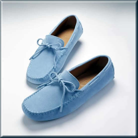 sky blue loafers Business Casual shoes for men