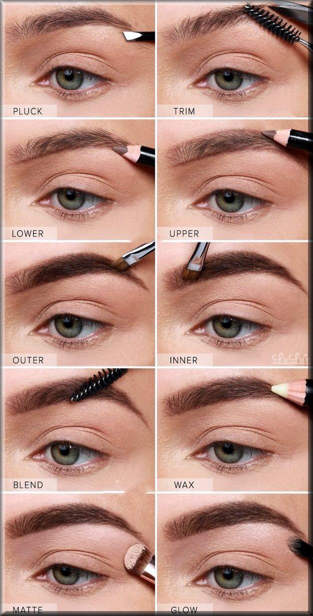 step by step eye brows making