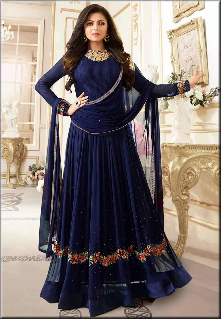 stunning indian anarkali frock