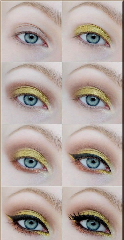 stunning yellow eye makeup for the eid