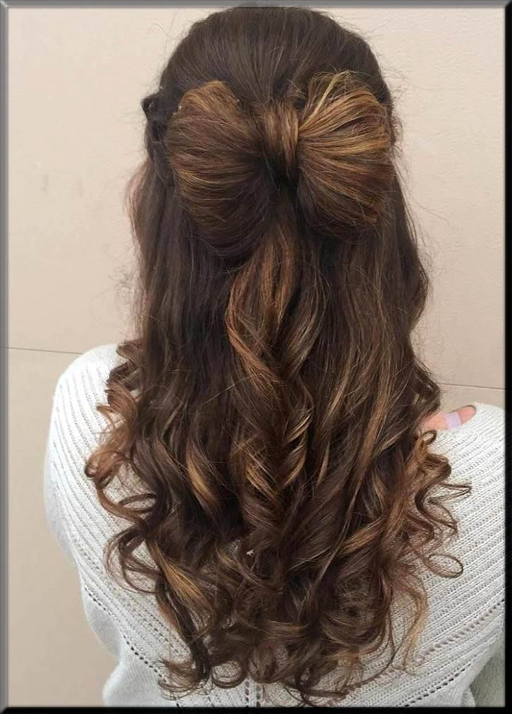 trendy hairbow eid hairstyles for girls