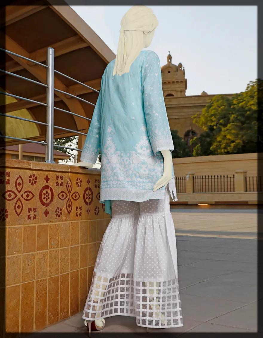 2-Piece Unstitched Lawn Dress