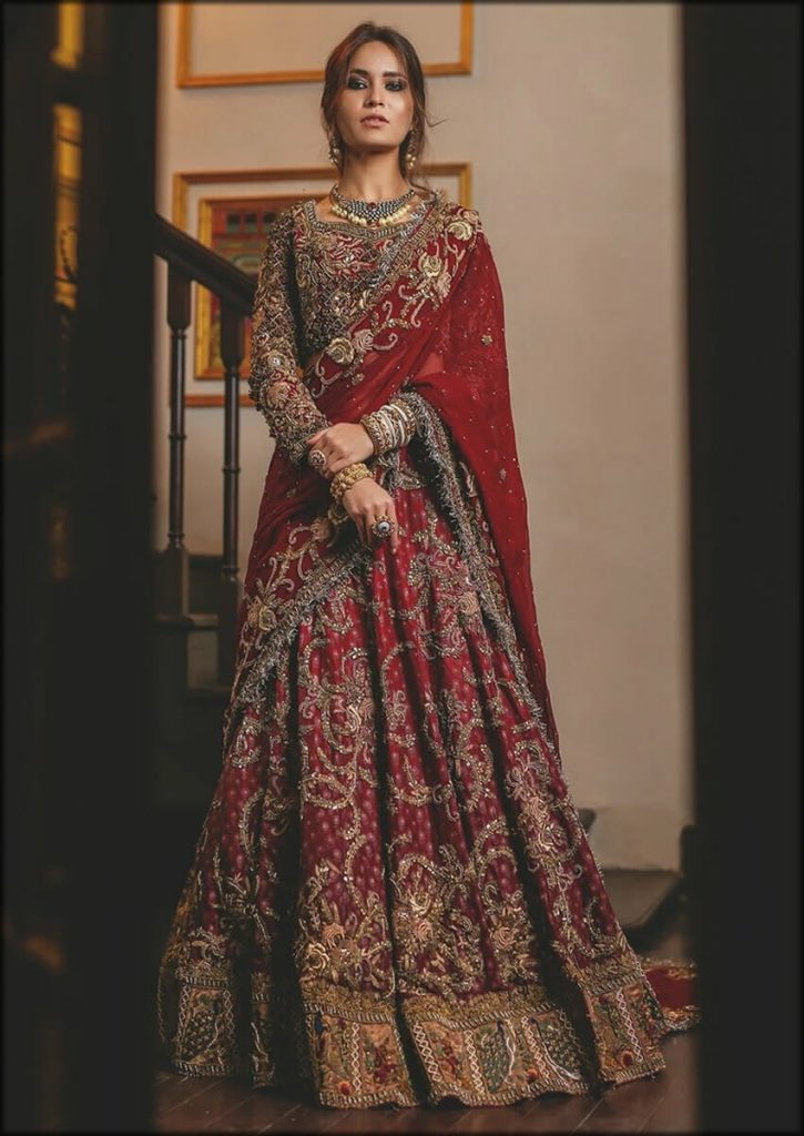 Amazing Floor Length Red Lehenga