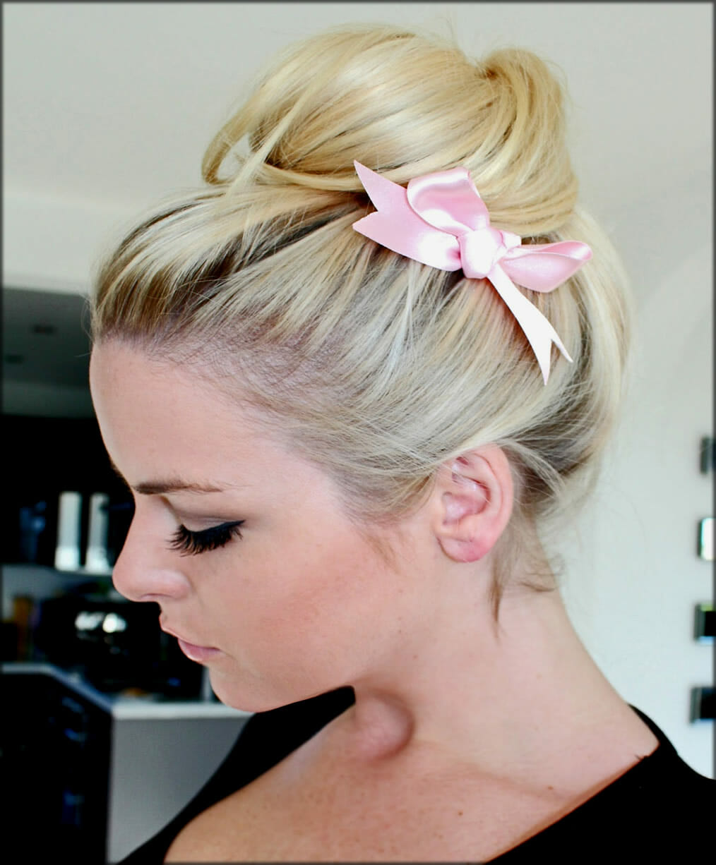 Bow Style Bun For Girls