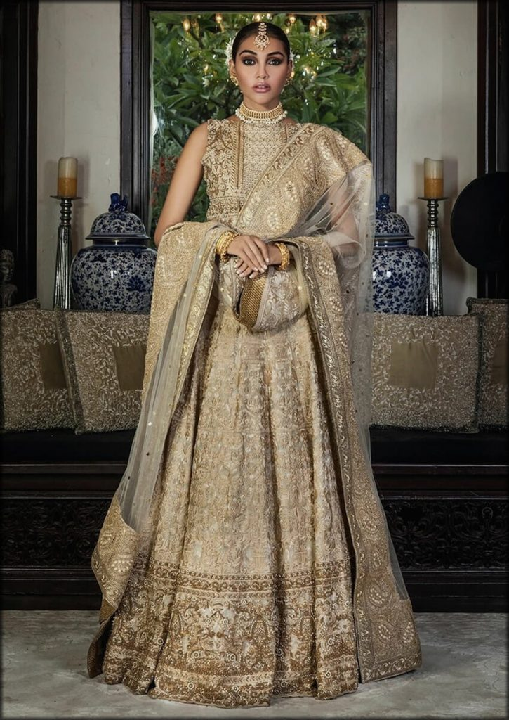 Champagne Lehenga HSY Bridal Dresses Collection