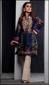 Digital Printed Summer Lawn Shirt with emboridery