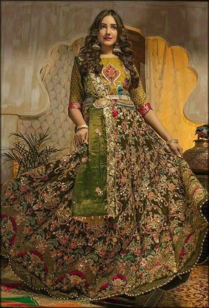 Elegant Bride Wear In Green Color
