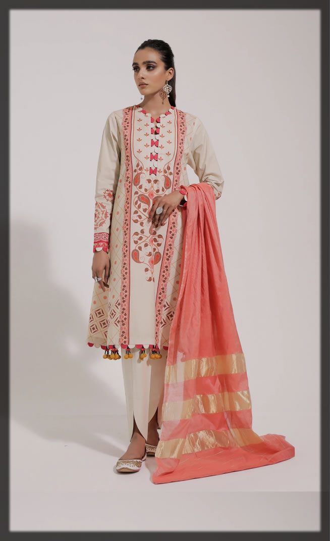 Ethnic by Outfitters Latest Unstitched Summer Collection