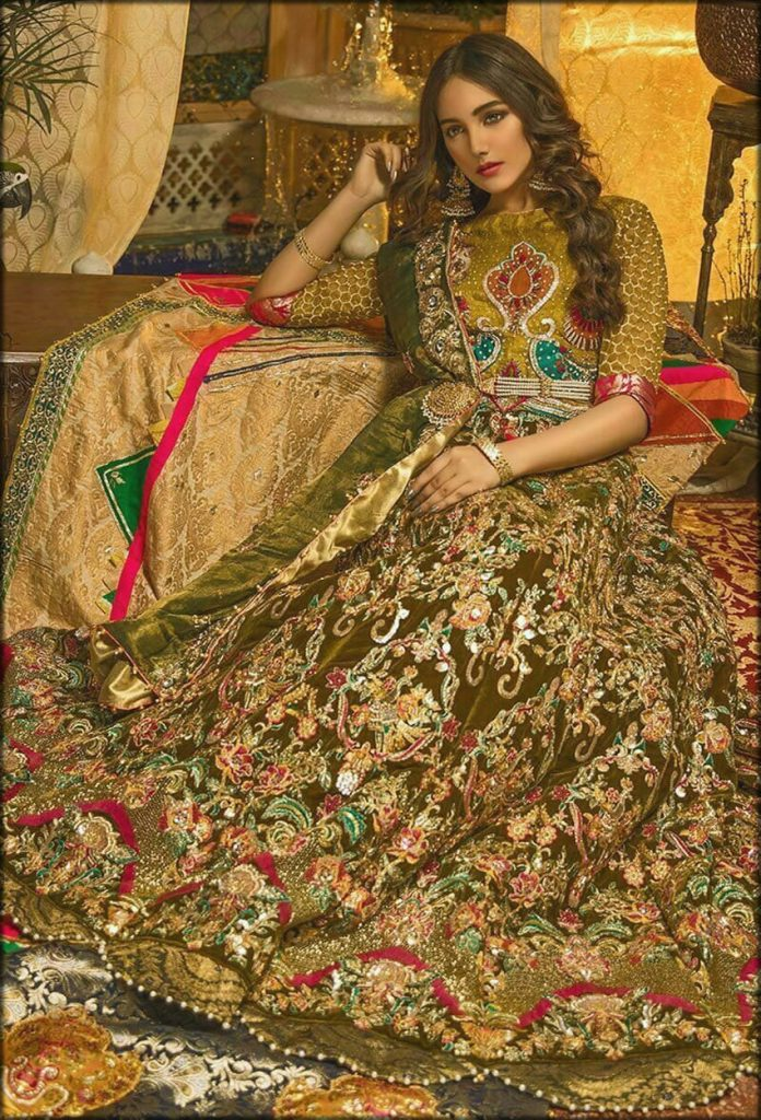 Fully Embroidered Bridal Wear By Zahra Ahmad