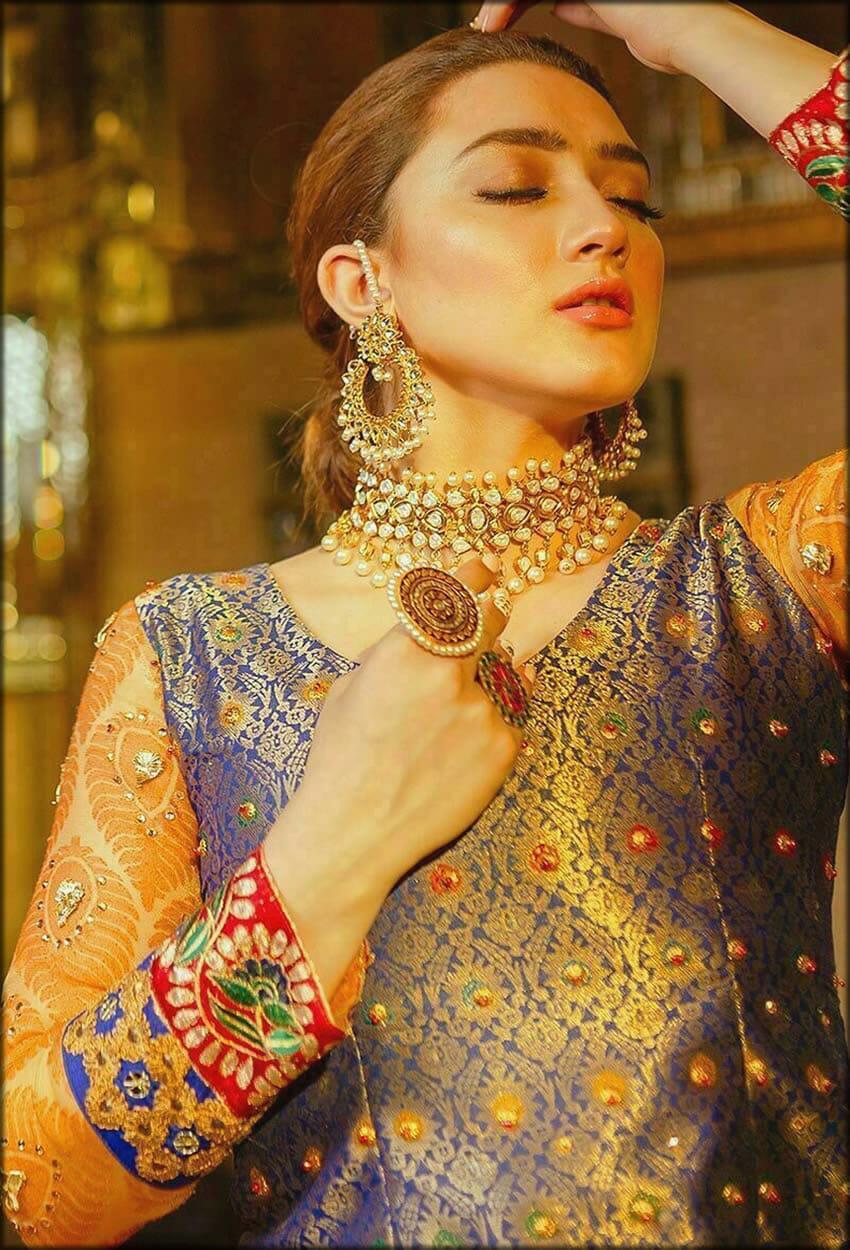 Multi Color Jamawar Embellished Dress