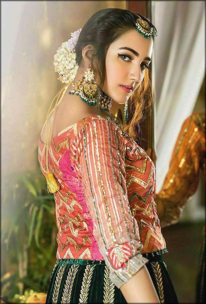 Pink And Green Lehenga Choli Zahra Ahmad Bridal Collection