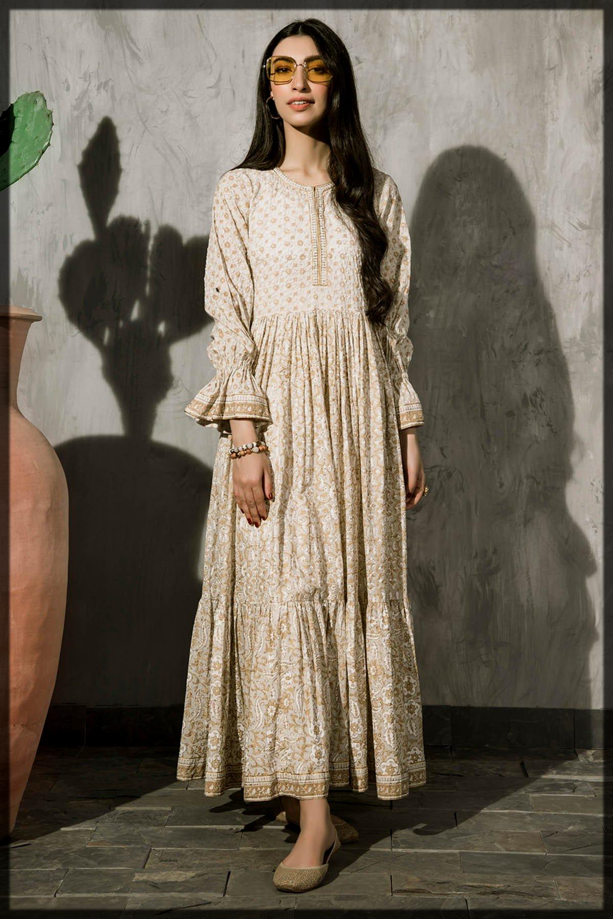 Printed summer wear kurta by kayseria for ladies