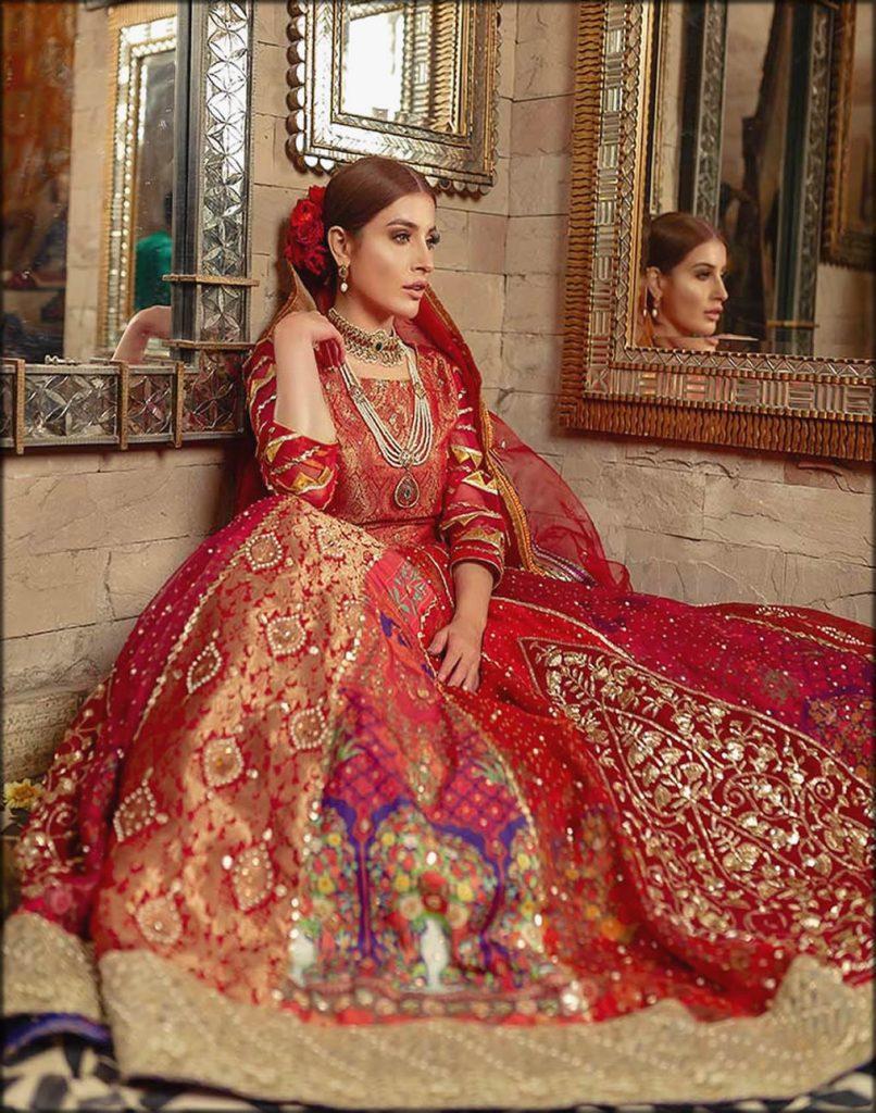 Red Fully Embellished Bridal Dress