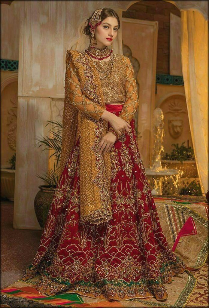 Red Glory Heavy Bridal Wear