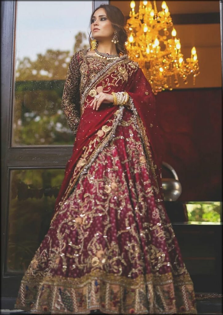 Red Gulabo HSY Bridal Dresses Collection