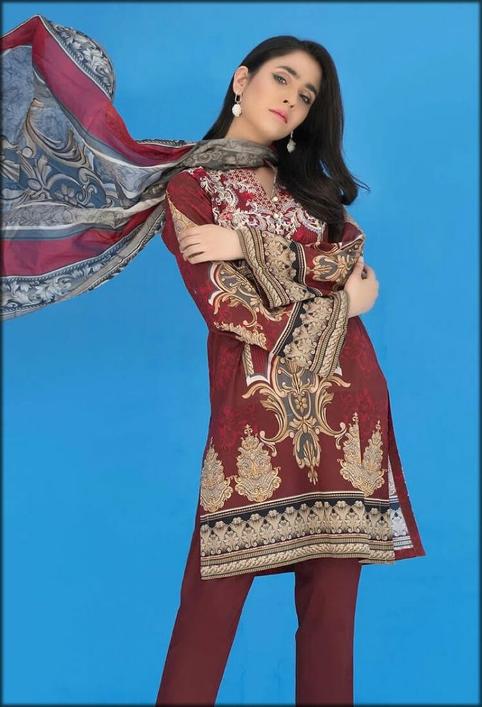 Red Three Piece Embroidered Suit