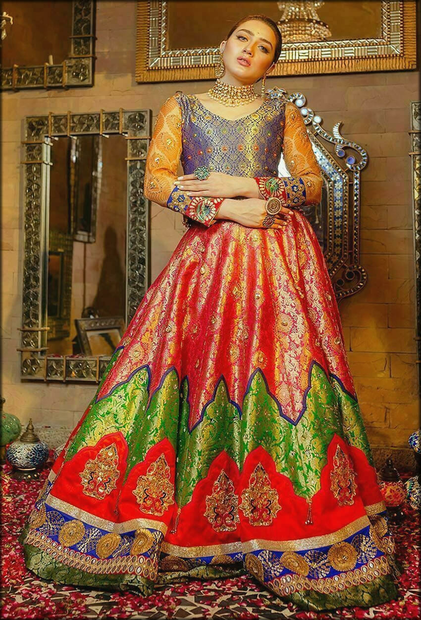 Sawan Pink Lehenga Choli Bride Collection
