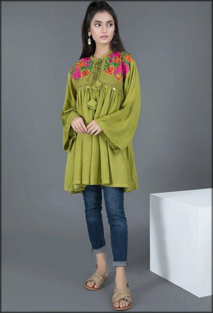 Shirt Silk Karandi Embroider