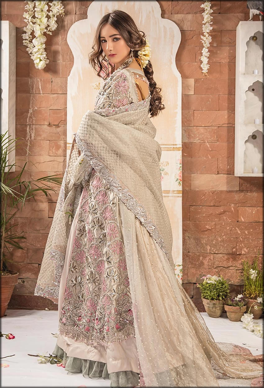 Silver Fully Embellished Floor Length Gown
