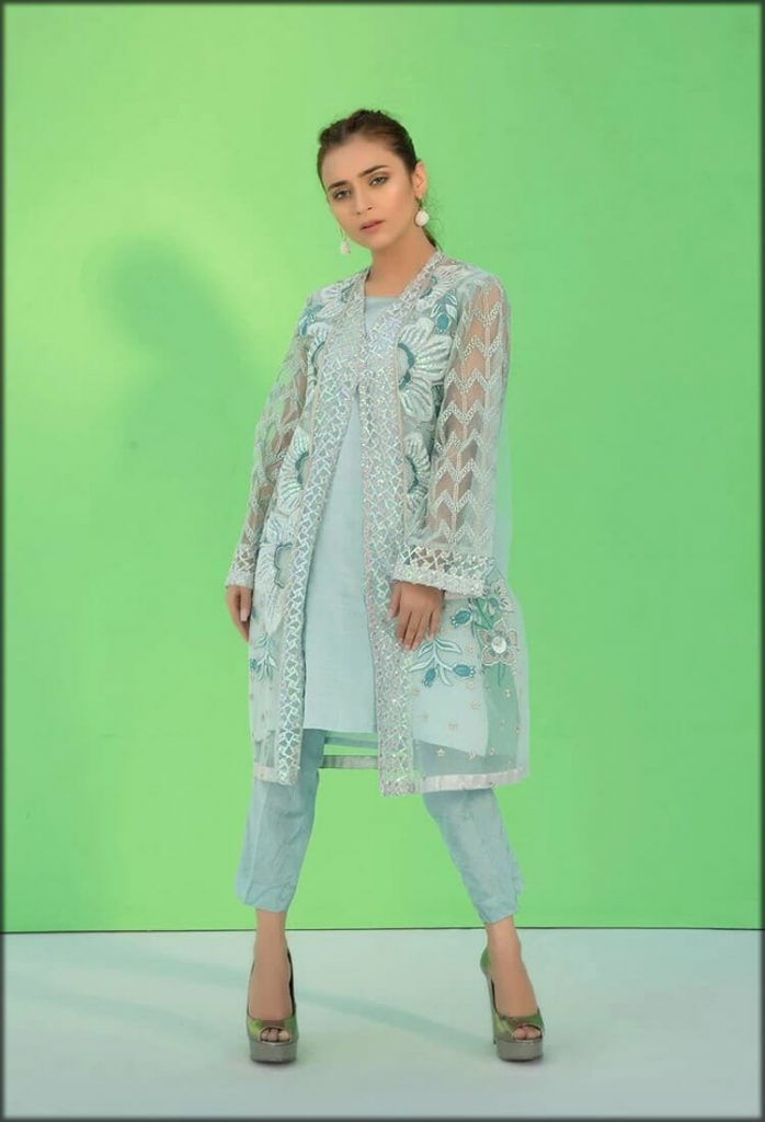 Stylish Flow Stitched Embroidered Shirt with Inner