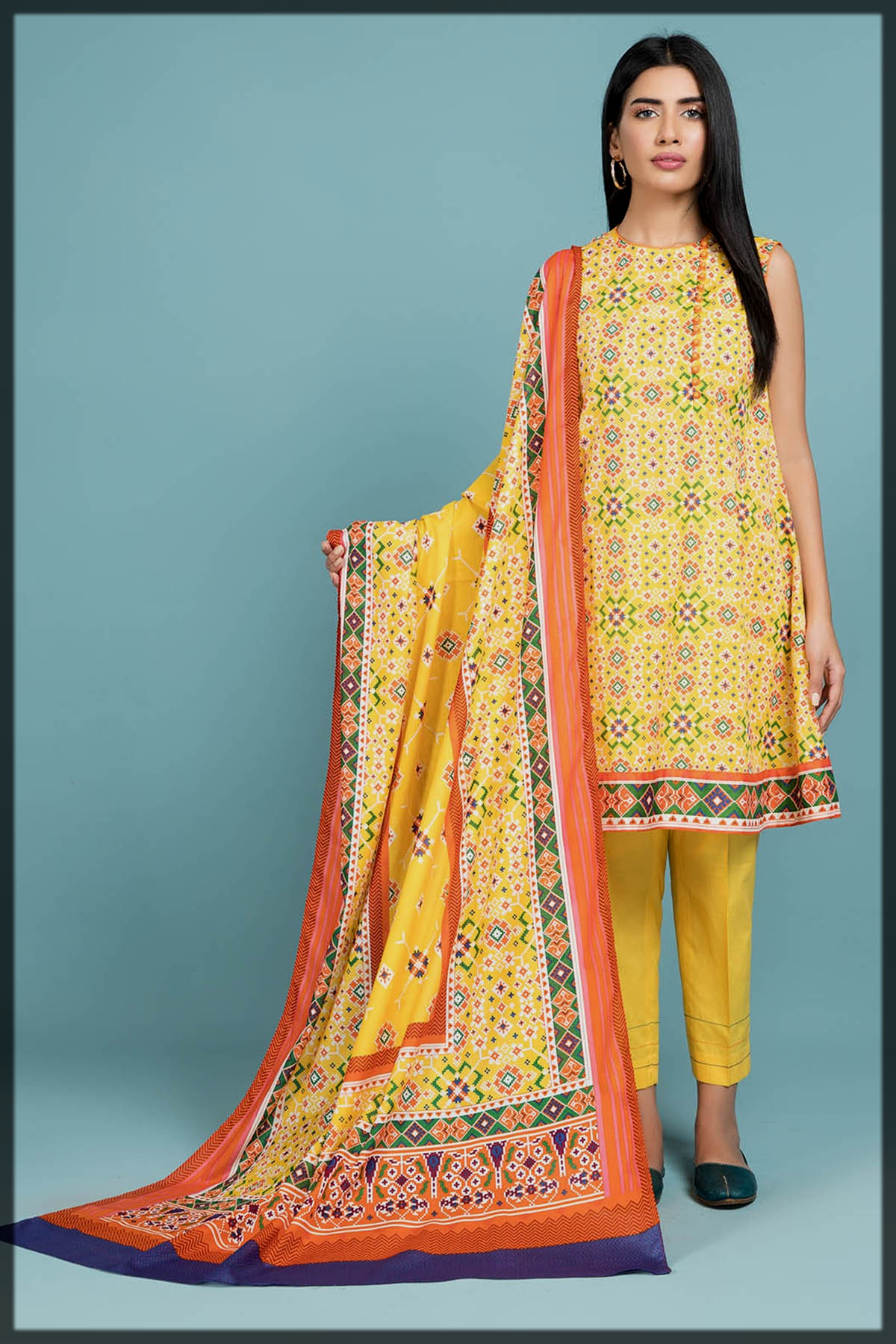 Summer Printed 2PC Suit By Kayseria