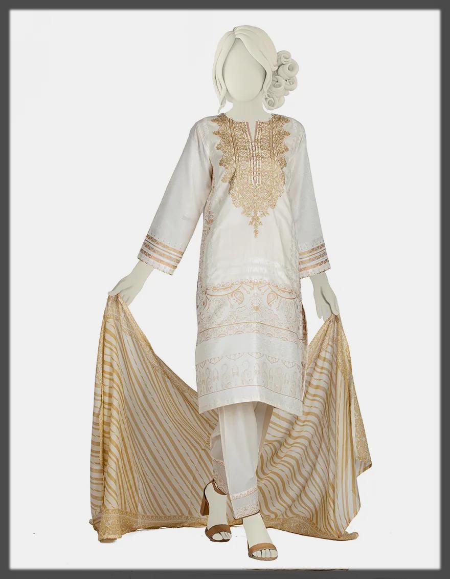 Three-Piece Stitched Lawn dress