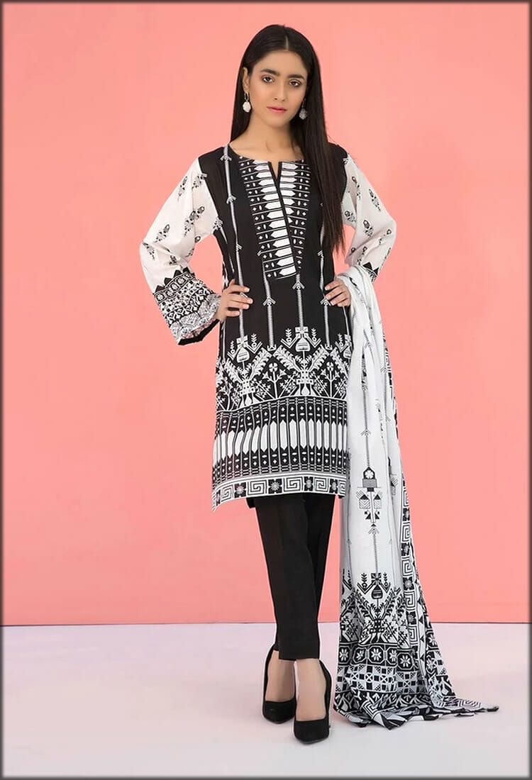 Two Piece Lawn Shirt With Dupatta