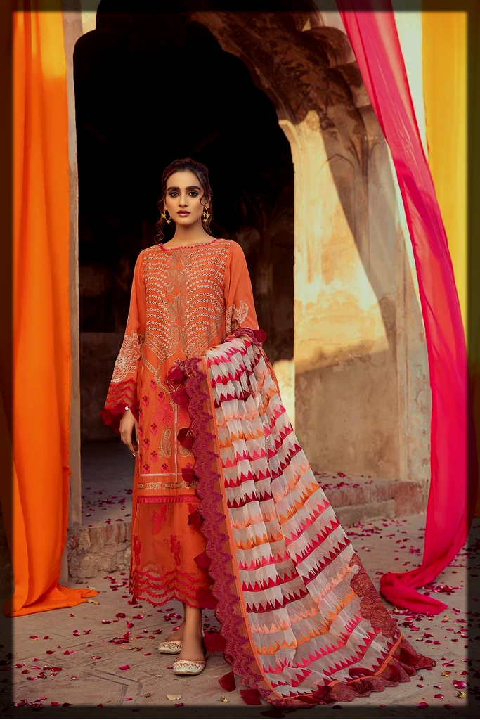 Unstitched Embroidered lawn Collection
