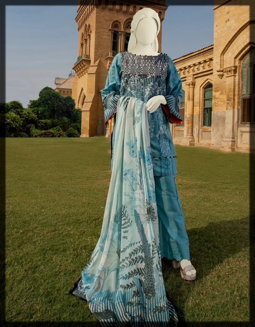 Unstitched Lawn Dress by j,