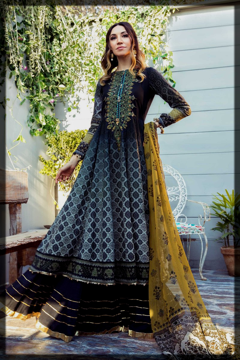 Unstitched Printed Lawn Attires