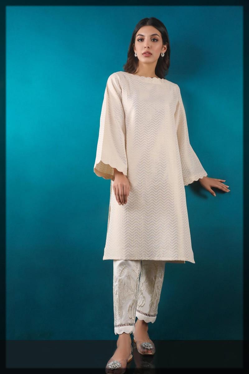 basic beige jacquard shirt