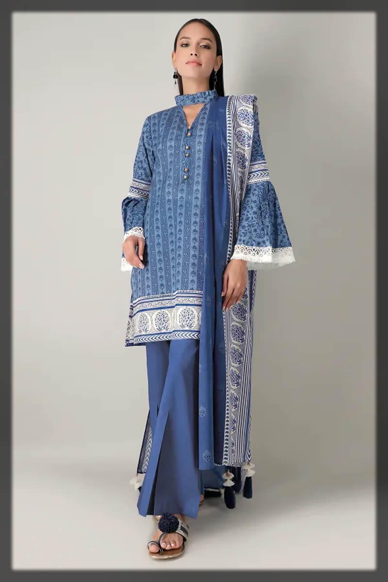 beautiful blue summer dress
