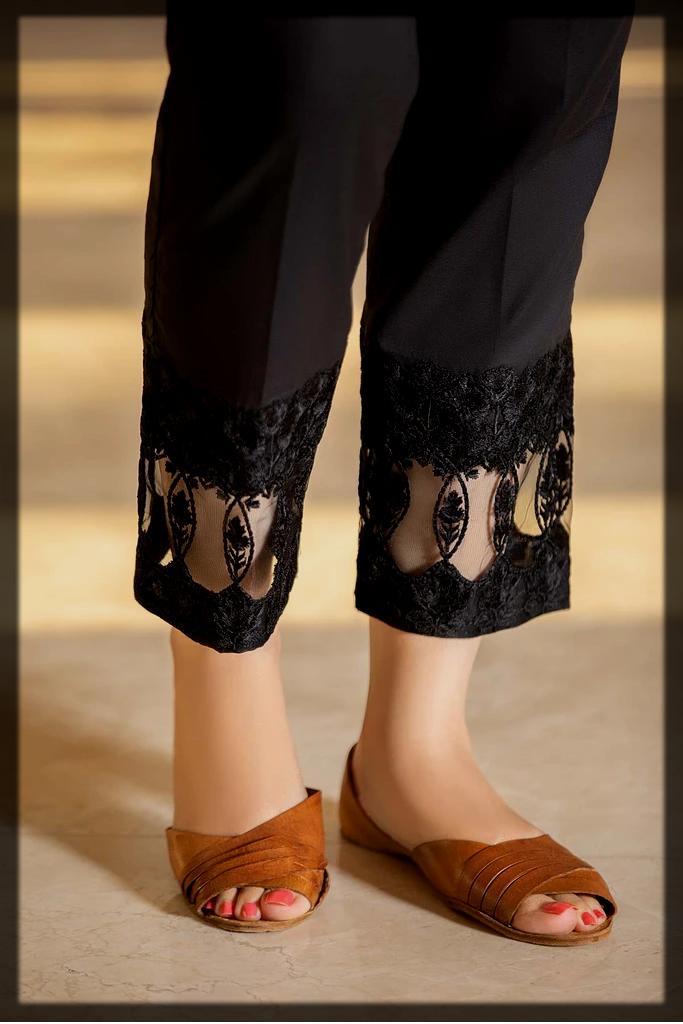 black cotton trouser