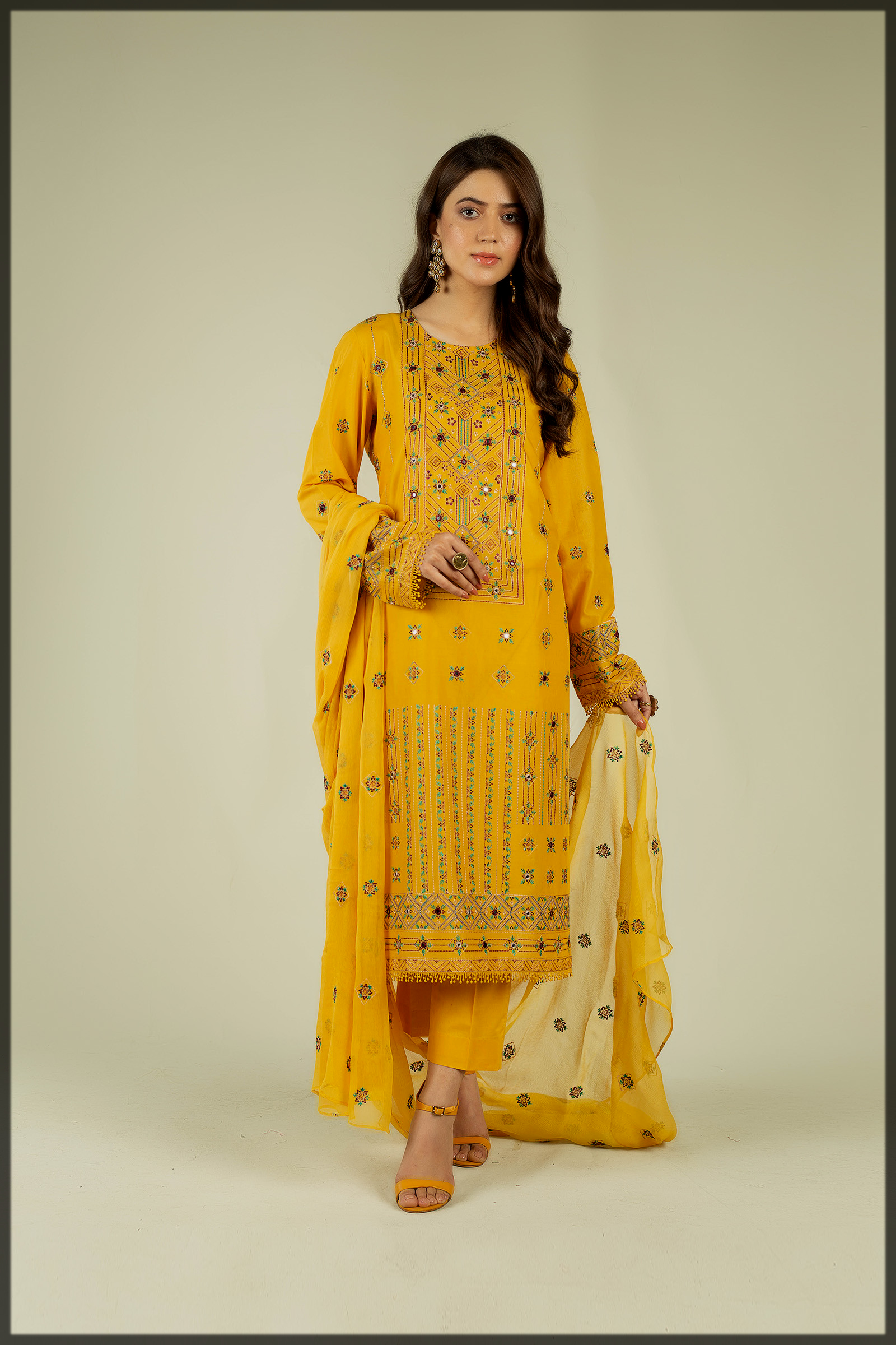 classy Embroidered Suit catalog by bareeze