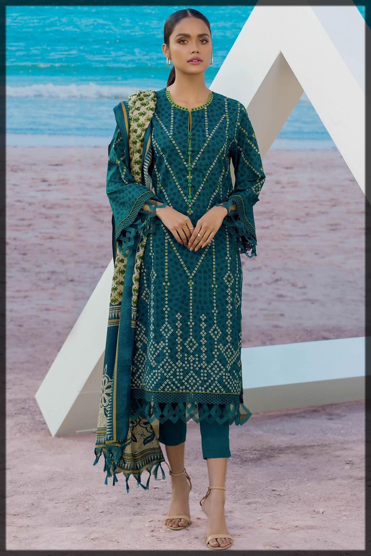 classy summer wear dress by alkaram studio