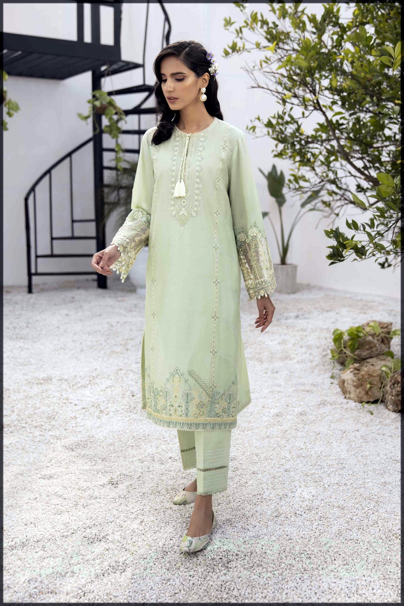 cotton 2pc suit for ladies