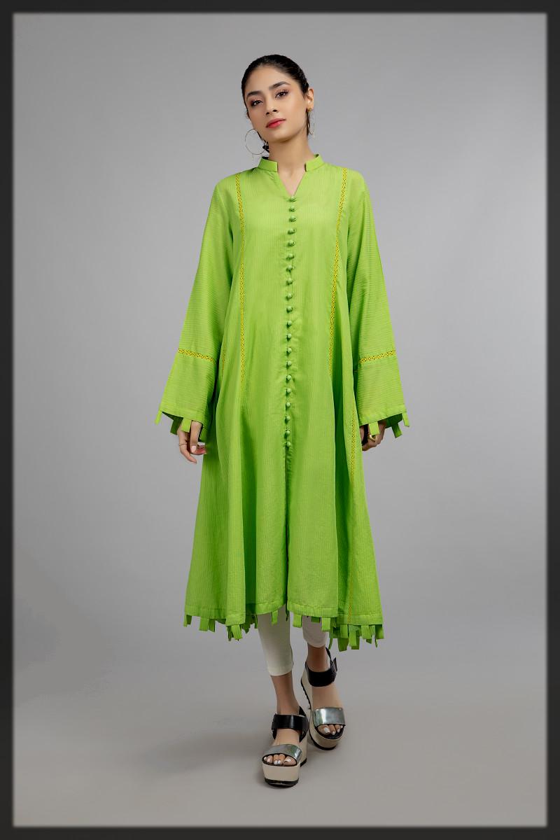 dazling green summer kurta by maria b