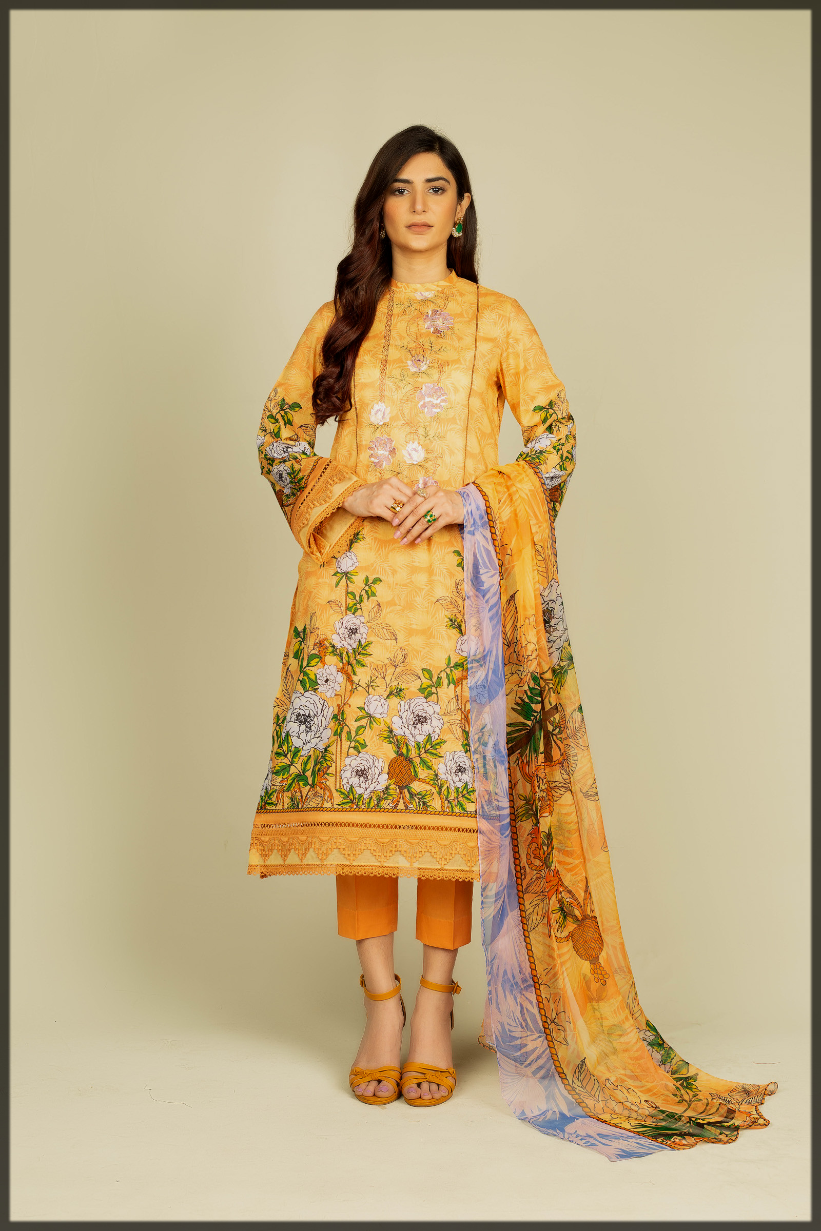 floral printed suit for teens