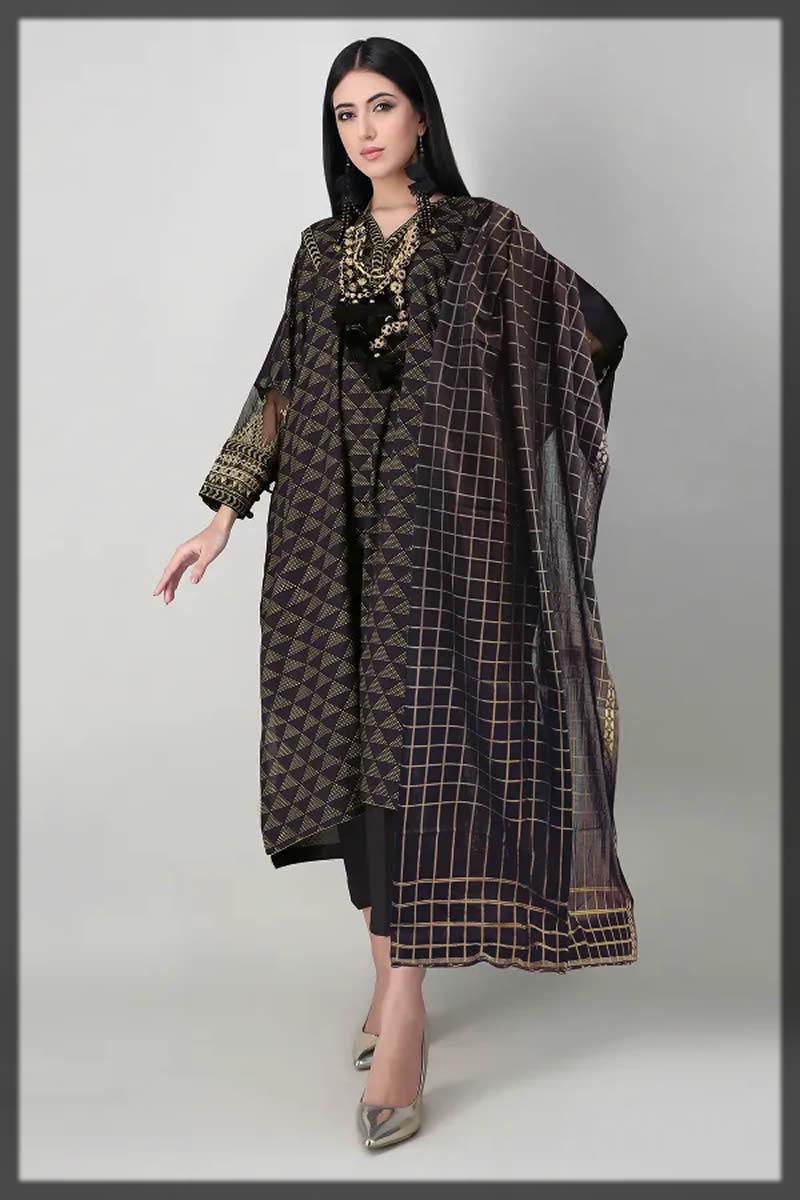 geometric black summer dress