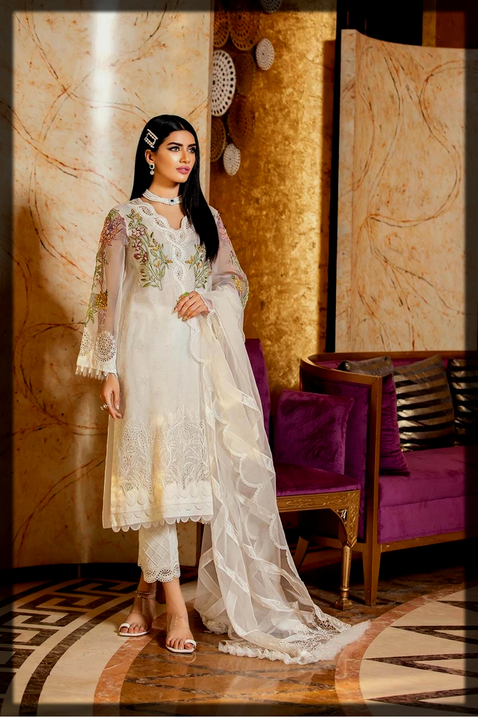 impressive white collection for wedding wear