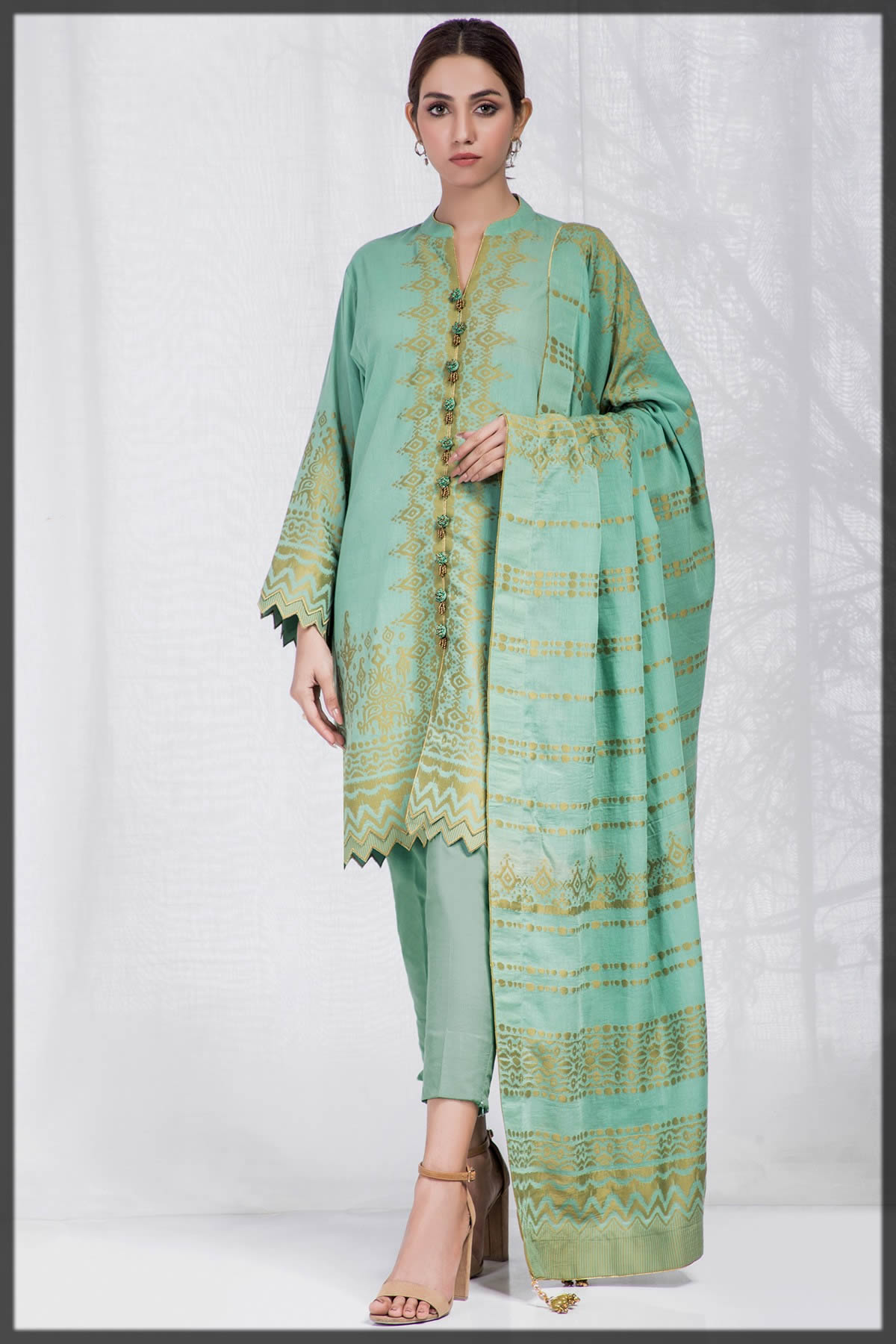 jacquard summer dress by alkaram studio