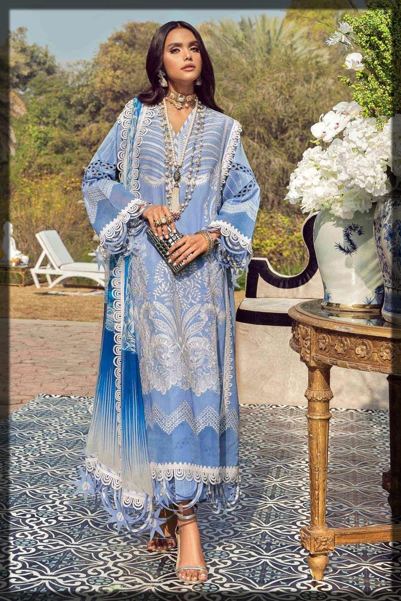 light blue lawn dress