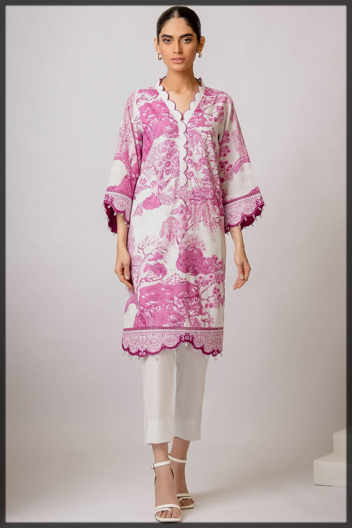lovely pink 1 pc suit