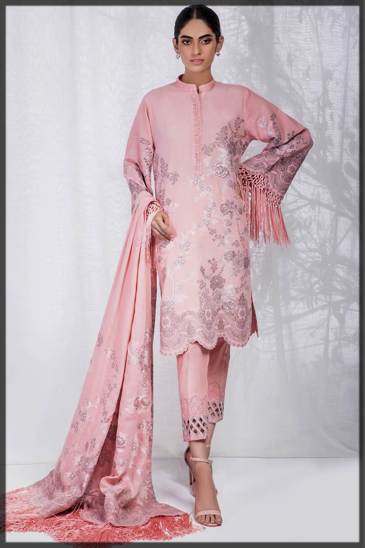 lovely pink jacquard summer dress