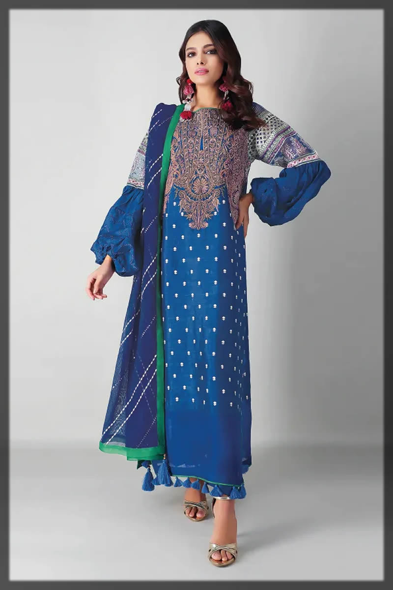 lovely royal blue raw silk dress