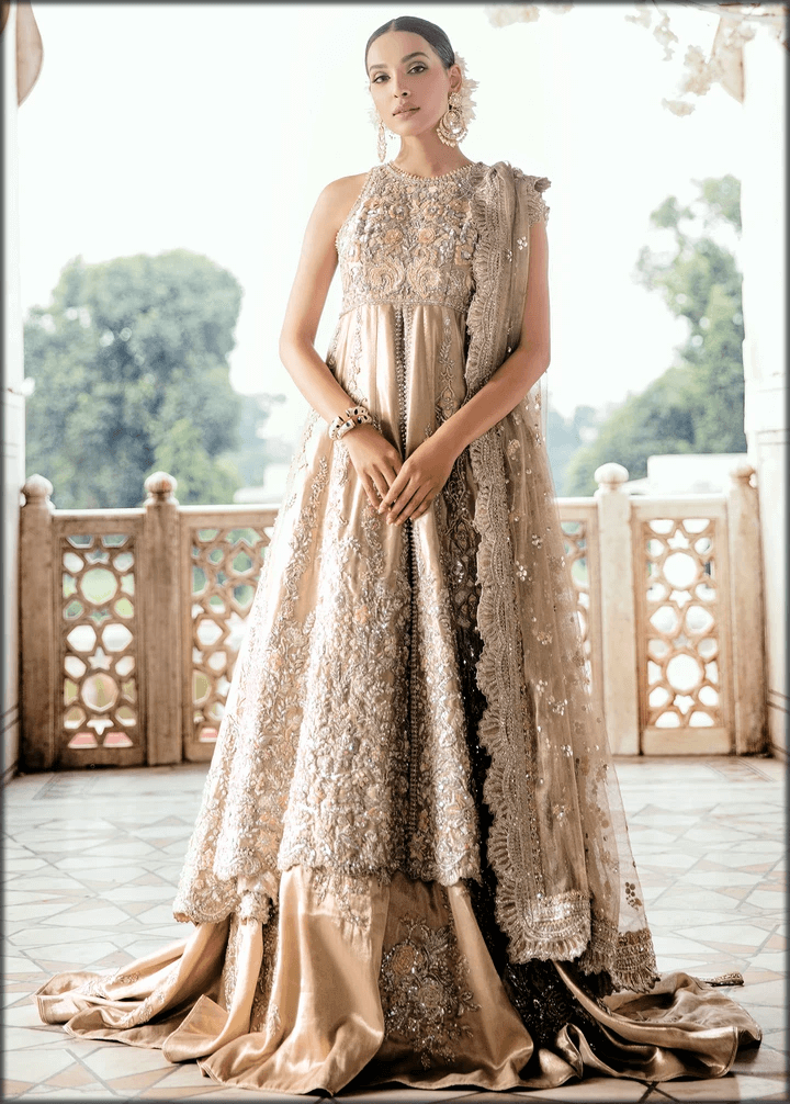 luxury brown maxi for walima day